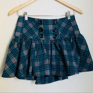 Candie's Plaid Skirt